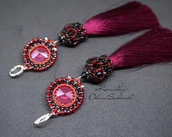 Earrings marsala