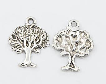 10 x Tibetan Silver Tree Of Life Charms 22x17x2mm