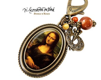 Jewel of the Mona Lisa retro jewel bag Leonardo da Vinci painting