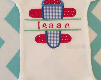 Airplane Onesie, Tshirt, bib or burpcloth