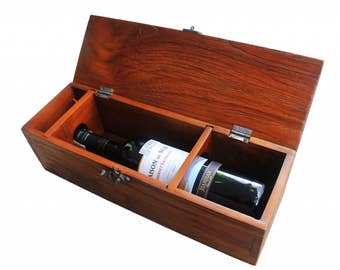 Rustic wine box - Wedding gift- Wine accesorries - Perfect gift