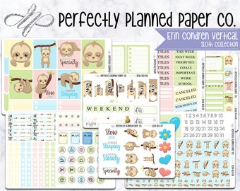 Sloth Collection // A La Carte // Erin Condren Vertical  and Happy Planner Classic [005]