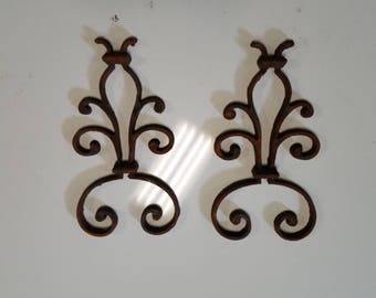 Vintage Wrought Iron Wall Decor