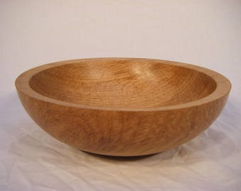 Solid Oak Bowl