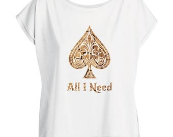 Oversize Ace Of Spades T Shirt Women
