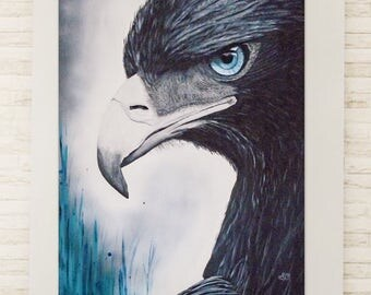 Golden eagle, Eagle, acrylic on canvas painting, handmade, original.