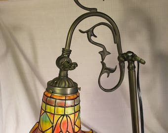 Vintage tiffany style desk lamp from 1940's