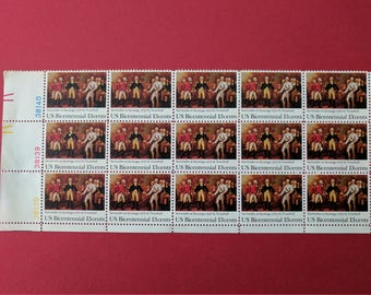 Set of 15 US Postage 13 Cent Bicentennial Stamps