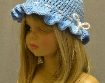 Sunbonnet Hat Light Blue