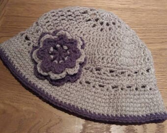 Handmade crochet summer hat