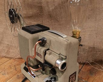 Steampunk 8mm Projector Lamp