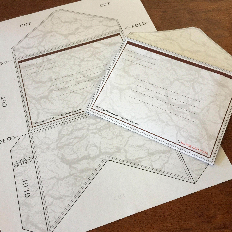 Top Secret Plain Folder Invitation Cards Geocaching Conspiracy