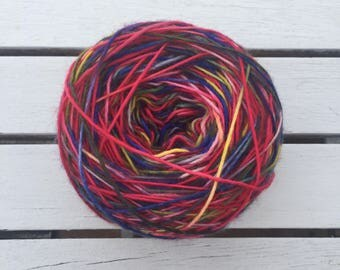"Hand Dyed Yarn- Hand Dyed Sock Knitting Yarn 100 grams - ""Galo De Barcelos"""