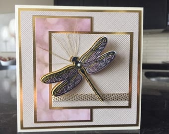 Elegant Dragonfly Card