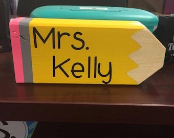 Teacher Name Plate, Educator Name Plate, Teacher Gift, Student Teacher Gift, Teacher Appreciation, Personalized Teacher Name Sign, Classroom