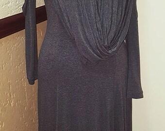 Slub Maxi Dress with Scarf attached