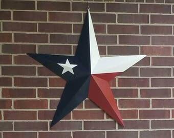 """Texas Flag Tin Star 24"""" x 24"""""""