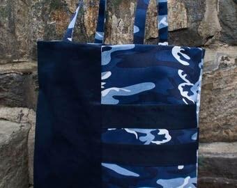 Lia Blue Camo shoulder bag