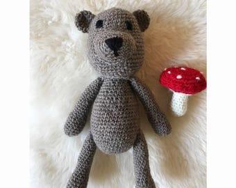 Crochet stuffed  bear toy