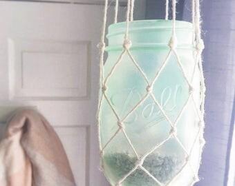 Jute Mason Jar Lantern
