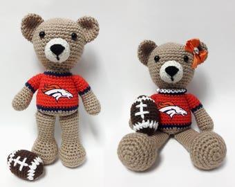 Crocheted Steelers Team Spirit Bear - Peyton/Denver
