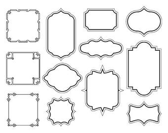 Frames svg, Borders svg, tags dfx, labels svg, frames dfx, frames clipart, cuttable labels, printable frames and borders, digital tags