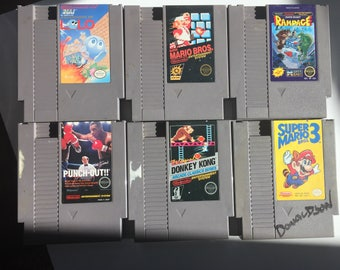 Original NES Games: Adventures of Lolo, Super Mario Bros, Rampage, Mike Tyson's Punch-Out, Donkey Kong Arcade Classic, Super Mario Bros 3