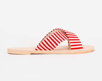 WREN red/white striped slide