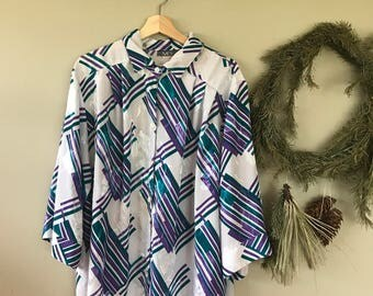Plus Size Abstract Shirt
