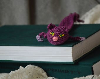 Accessory for a book,Cat bookmark, knitted cat bookmark, knitted bookmark, bookmark, book accessory, gift for book lover, gift for cat lover