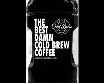 The Best Damn Cold Brew Coffee - 1/2 gallon - 2 bottles