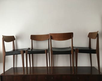 dining chair | set of 4 | Thonet | Hanno von Gustedt | Modell 640L | Teak