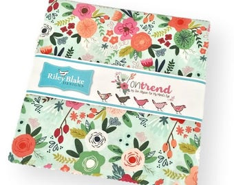10-Inch Stacker Layer Cake, On Trend, by Jen Allyson, for Riley Blake Designs Fabrics
