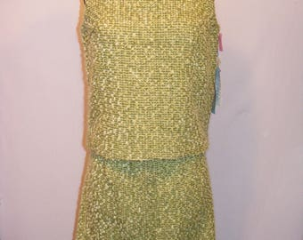 Women's NOS 60s Vintage 2 piece Suit Dress Med/Lrg