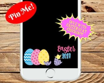 SALE! INSTANT DOWNLOAD, Snapchat Easter Filter, Snapchat Filter, Snapchat Geofilter, Easter Filter, Geofilter, Easter Snapchat Geofilter