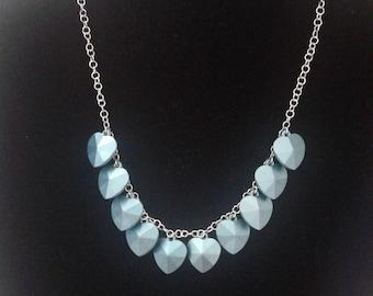 Beautiful Women's Blue Heart Necklace