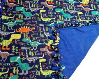 Dinosaur Blanket - Boys Fleece Blanket - Dinosaur Bedding - Boys Bedding - Twin Size Bedding - Boys Throw Blanket - Dinosaur Decor