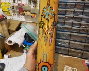 Handmade bamboo rainstick