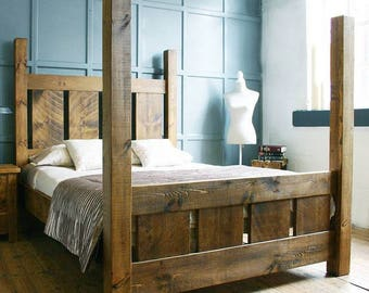 Reclaimed wood bed custom made