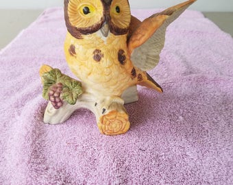 Beautiful hand painted porcelain owl