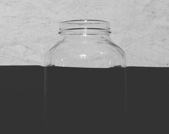 one piece design glass jar