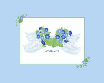 Morning Glory Angel Wings