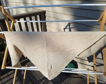 Knitted Cotton Shawl Natural color