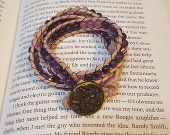 Amethyst Triple Wrap Bracelet