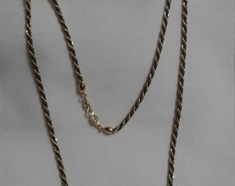 """Napier 30"""" Rope with Black Intertwined Necklace"""