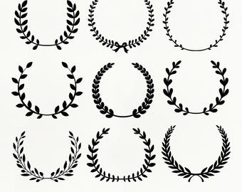 Laurel Wreath SVG File, Laurel Wreath dxf, png, eps for Silhouette Studio & Cricut, Cut File, Flower