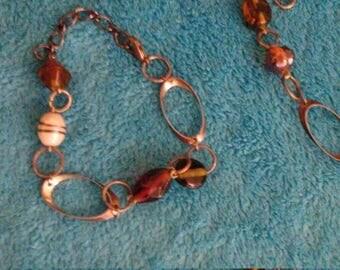 Bracelet and necklace set.