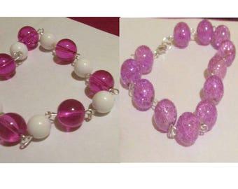 2 Bead Link Bracelets