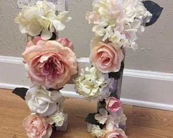 Floral Wooden Letters