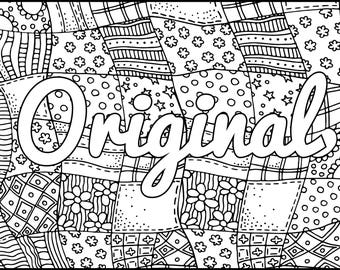 I Am Original Printable Coloring Page